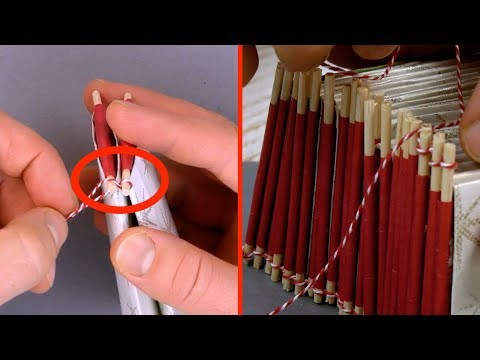 Tie The Flattened Toilet Paper Rolls To The Wooden Skewers – It's That Time Of Year!