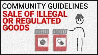 Comercialización de productos ilegales o regulados