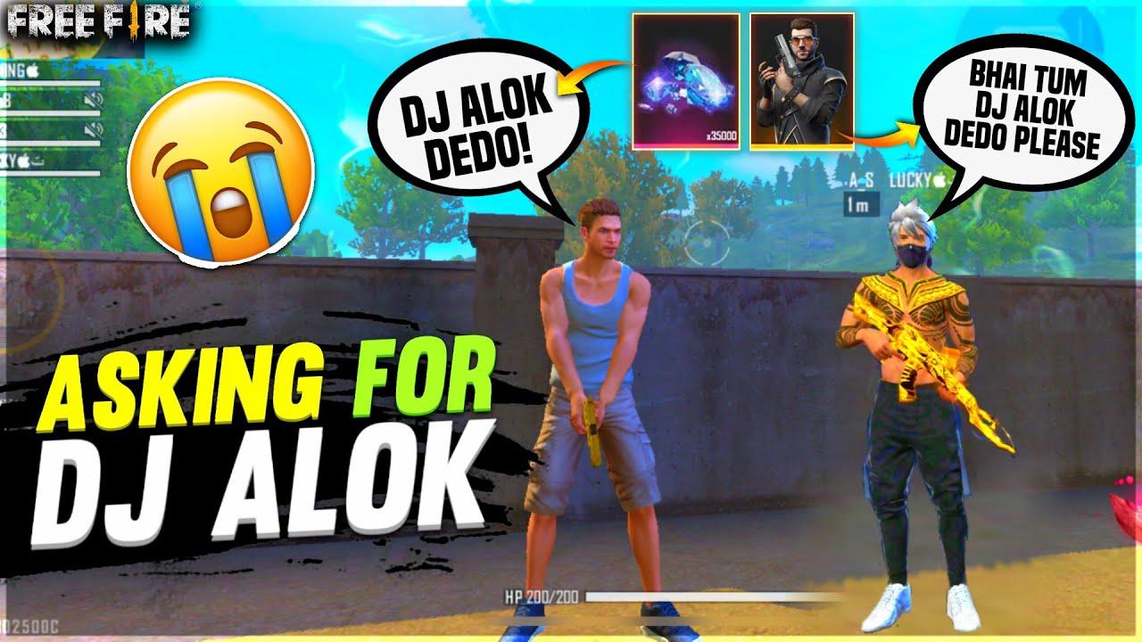 Asking For Dj Alok From Random Players 😭| Emotional moment | I Gave Him Dj Alok  - Garena Free Fire
