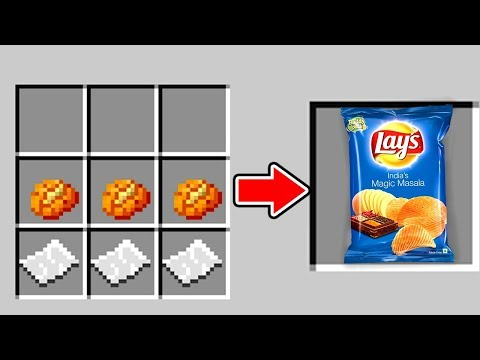CHIPS CRAFTEN IN MINECRAFT
