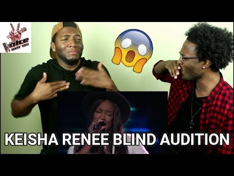 """The Voice 2017 Blind Audition - Keisha Renee: """"I Can't Stop Loving You"""" (REACTION)"""