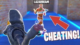 LAZARBEAM CAUGHT CHEATING in HIDE AND SEEK! (Fortnite Creative) w/Ali-A, Vikkstar, Lazarbeam & More!