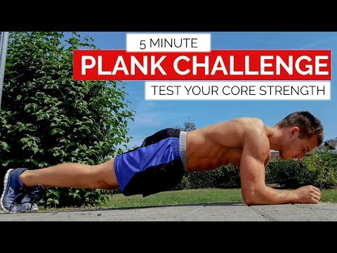 5 Minute Plank Challenge | Test Your Core Strength