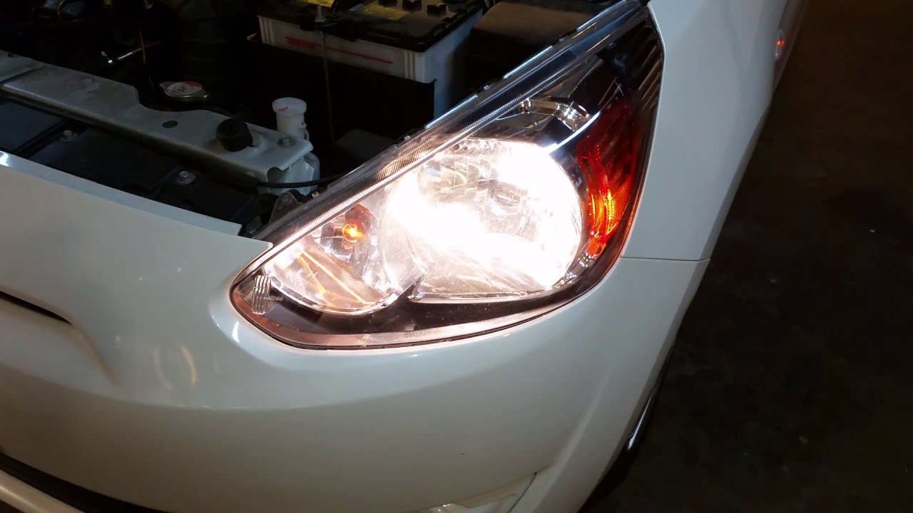 Burnt Out Headlight : Mitsubishi mirage testing headlights after