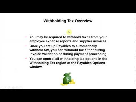 Oracle EBS  Withholding Taxes