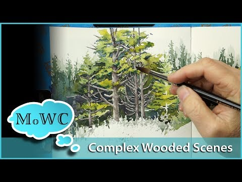 Painting a Complex Wooded Area – The Perfect Sketchbook