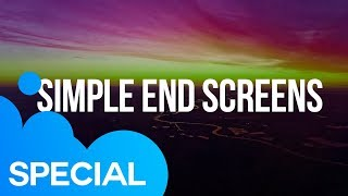 Simple End Screens | After Effects Template