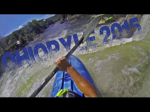 Ohiopyle, PA Over The Falls Festival 2015- Kayaking a 20ft Waterfall