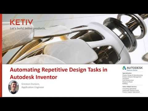 On-demand: Automating repetitive design tasks in Autodesk Inventor