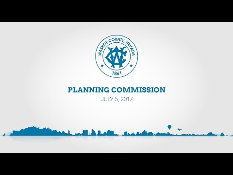 Washoe County Planning Commission | July 5, 2017