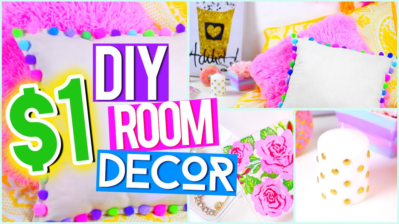 diy $1 room decor ♥ tumblr pinterest inspired - youtube