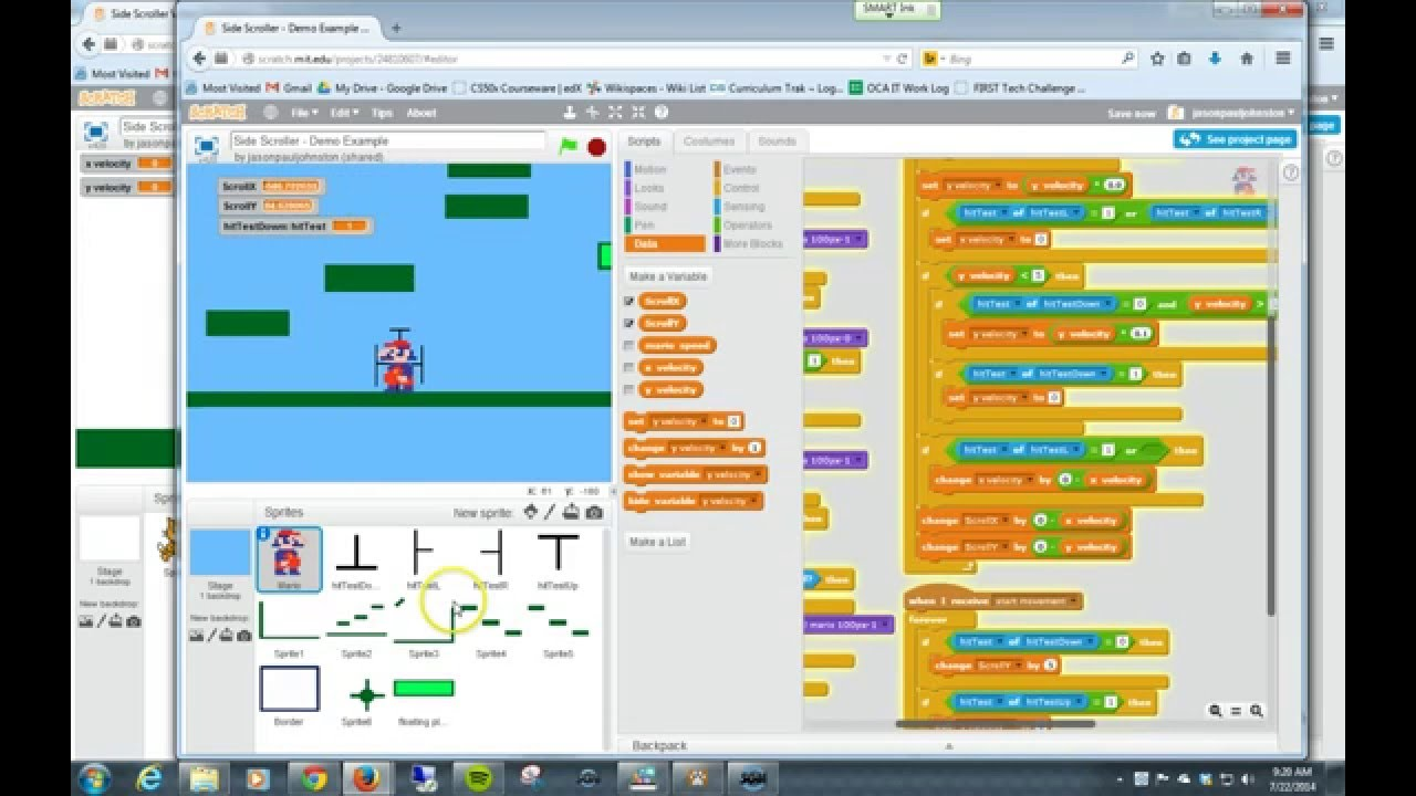 Making a side scrolling game in Scratch | Melbourne ...