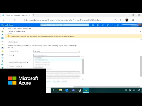 How to create an Azure SQL database using all configuration options | Azure Portal Series
