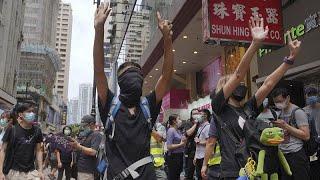 Полиция разогнала акцию против китайского закона о безопасности в Гонконге…
