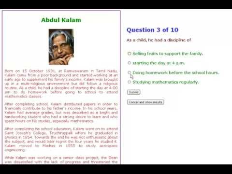 4th class english comprehension practice ebook for kids