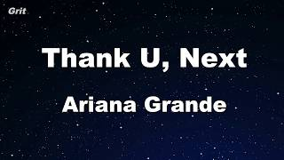 thank u next Ariana Grande Karaoke No Guide Melody Instrumental