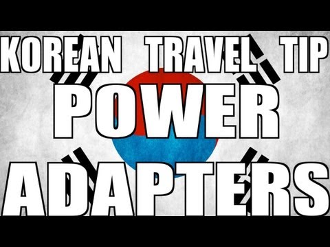Korean Travel Tip: Power Adapters