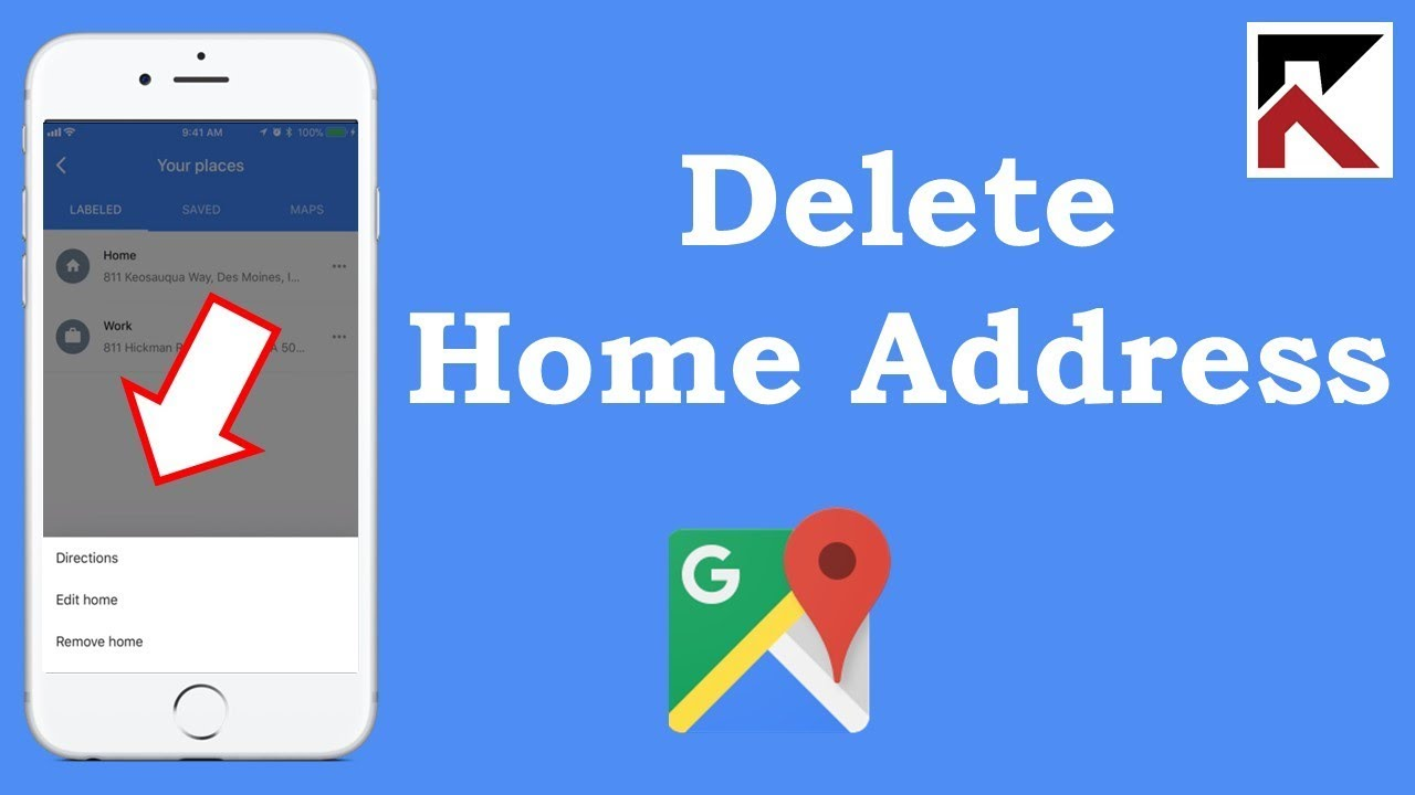 How To Delete Your Home Address Google Maps iPhone