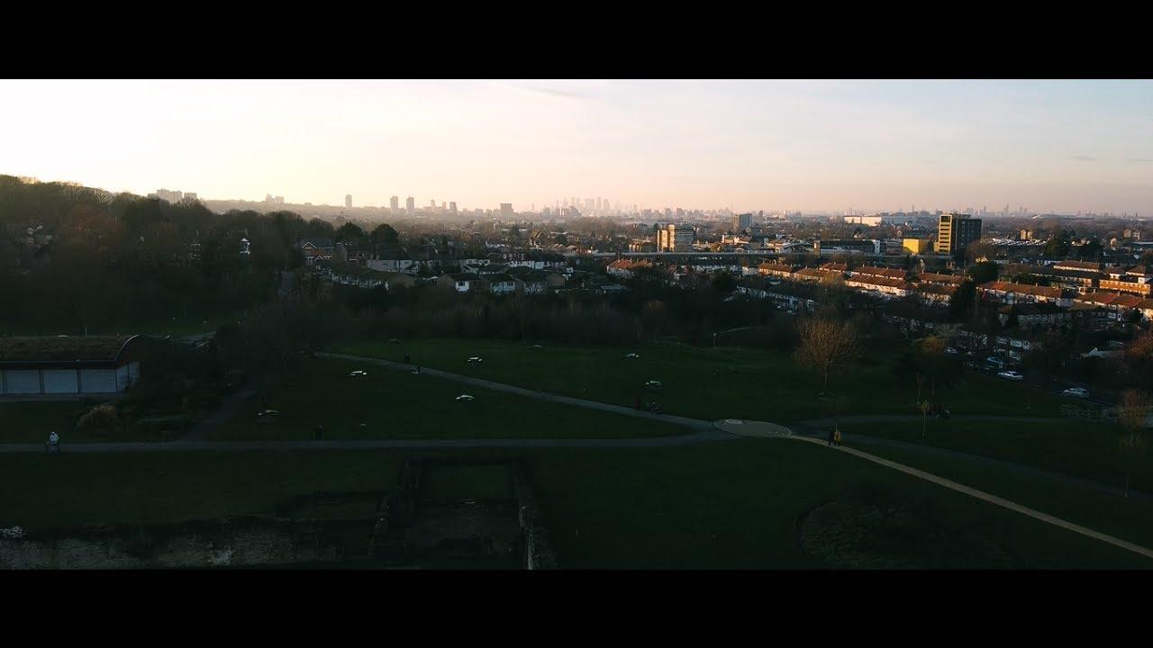 Mavic Mini Drone Aerial Footage: Abbey Wood Ruins - London, UK: Crossrail Town (Elizabeth Line TfL)