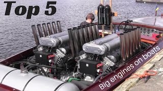 TOP 5 Big engines in small Boats [inboard open boat]