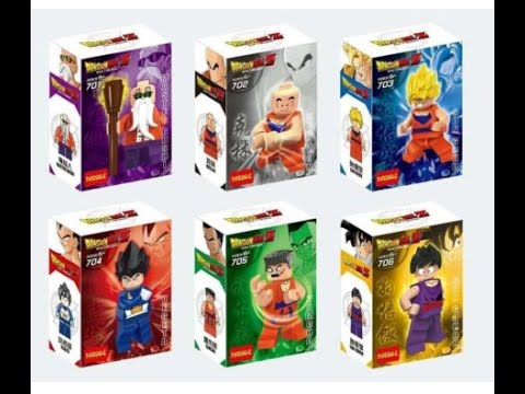 review set mini figuras dragon ball z lego youtube. Black Bedroom Furniture Sets. Home Design Ideas