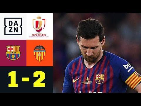 Lionel Messis Treffer reicht nicht: FC Barcelona - FC Valencia 1:2   Copa del Rey   DAZN Highlights