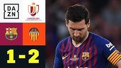 Lionel Messis Treffer reicht nicht: FC Barcelona - FC Valencia 1:2 | Copa del Rey | DAZN Highlights