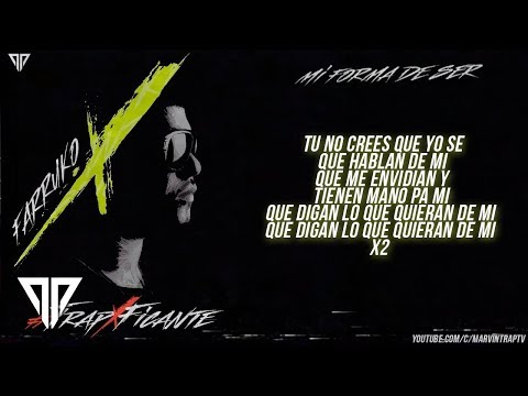 Farruko - Mi Forma de ser (Video Letra) [TrapXFicante]
