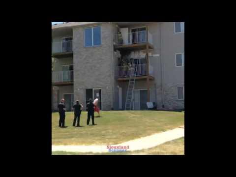 Woodbury County Height Apartments Balcony Fire