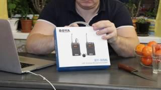 Распаковка и обновка - радиомикрофон - Boya BY WM6