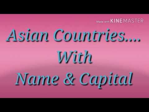 Asian Countries With Name & Capital..@@