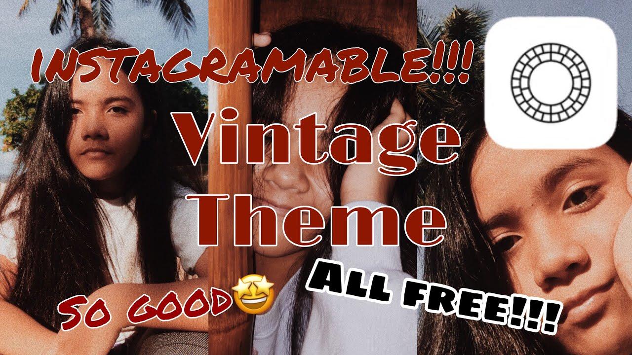 Vintage Theme VSCO Tutorial|All free?!!