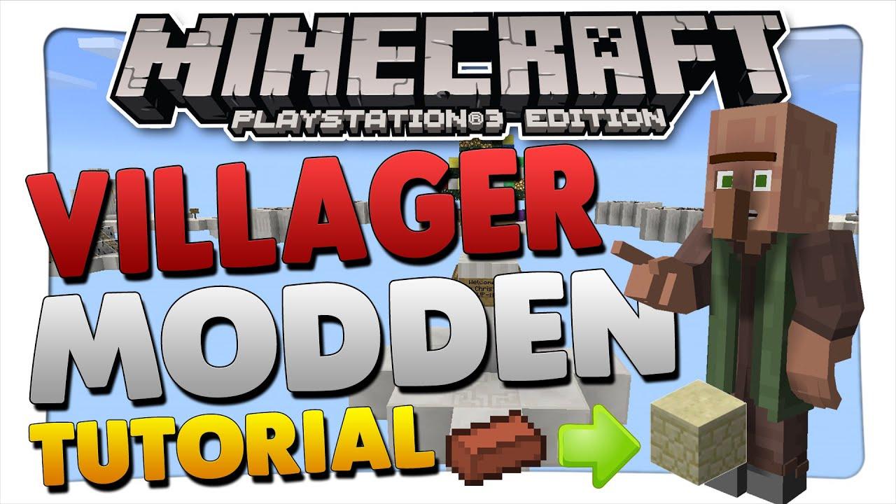 VillagerDorfbewohner Für BedWars Modden Minecraft PS Tutorial - Minecraft dorfbewohner bauen hauser mod