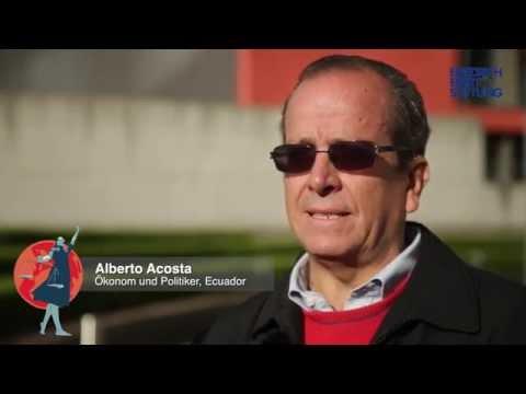 Alberto Acosta im Interview bei der FES Gerechtigkeitswoche 2015