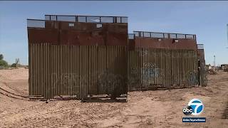 Border wall going up in Calexico to replace aging structure | ABC7