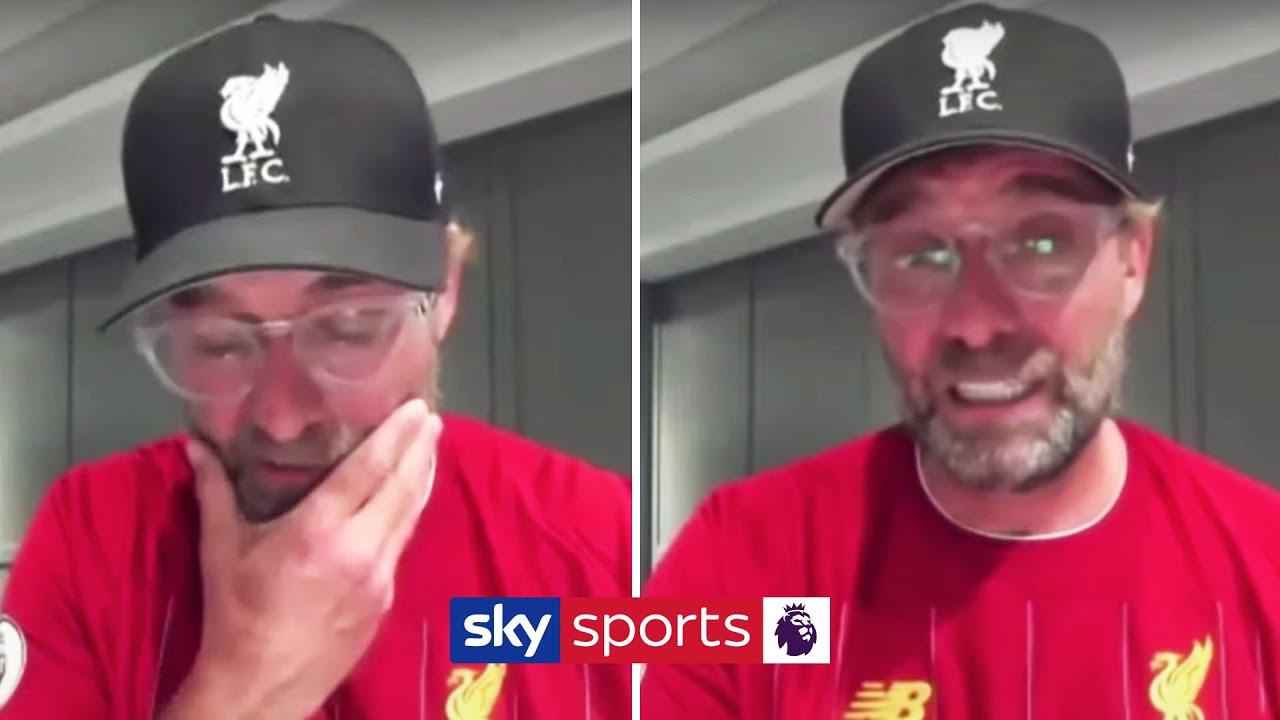 Jurgen Klopp's emotional reaction to Liverpool winning the Premier League ????