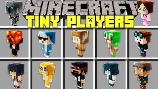 Minecraft TINY PLAYERS MOD l BECOME TINY PLAYERS, YOUTUBERS, MOBS & MORE! l Modded Mini-Game