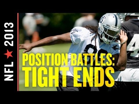 2013 Oakland Raiders Training Camp Position Battles: Tight Ends