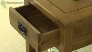 Rustic Solid Oak 1 Drawer Lamp Table From Oak Furniture Land