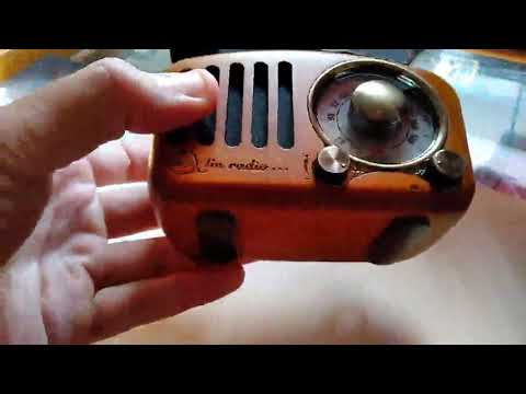 Qoosea Radio Portátil Altavoces Bluetooth Hecho A Mano Retro Estéreo, Muy Chulo A Pesar Del Tamaño