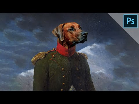Royal animal portrait | PHOTOSHOP TUTORIAL thumbnail