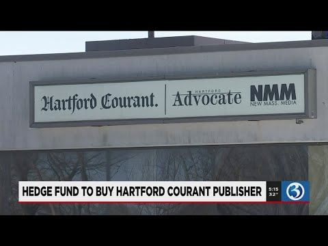 VIDEO: Hedge fund to buy Hartford Courant publisher