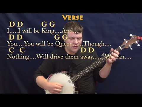 Heroes (David Bowie) Banjo Cover Lesson with Chords/Lyrics