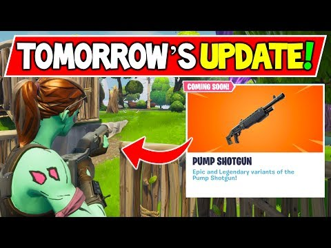 EVERYTHING IN TOMORROW'S Fortnite UPDATE V6.31! - (New Pump Shotgun Gameplay) Fortnite Battle Royale