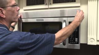 Tips on how to replace your microwave charcoal filter.