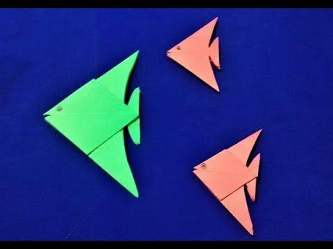 banded angel fish pt 2   Origami diagrams, Origami fish, Origami   360x480