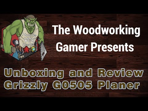 Grizzly G0505 Thickness Planer Unboxing, Assembly and Review
