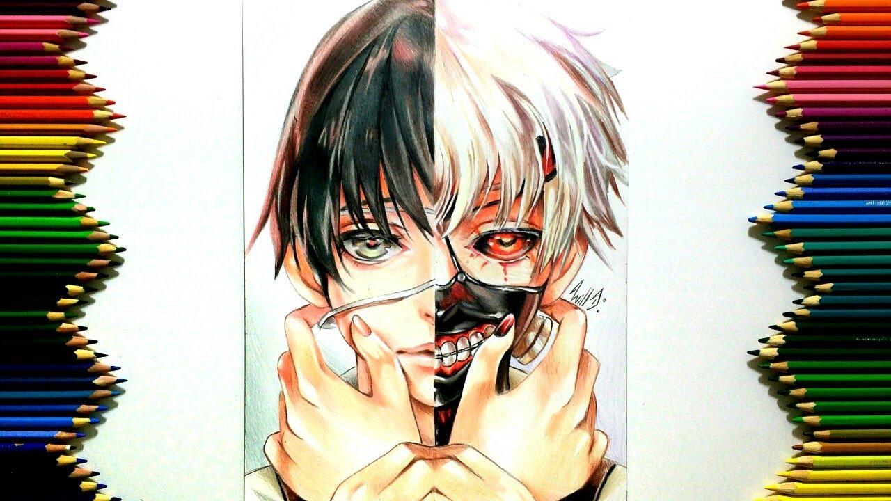 Drawing - Kaneki Ken ( Tokyo Ghoul 東京喰種 )