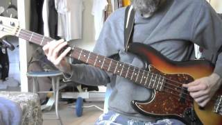 The Band - Ophelia (from the Last Waltz) (bass cover)
