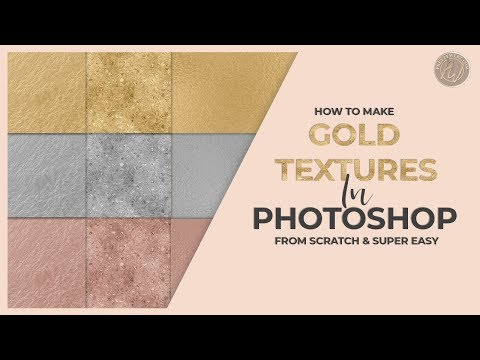 Gold, Silver, Rose Gold in Photoshop [[[Super Easy & Fast Tutorial!]]]
